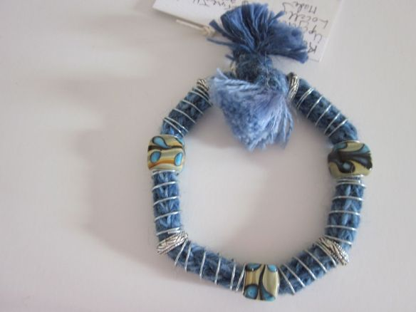 Springs and Wool Bracelet