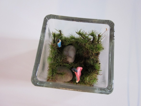 Terrarium with 1 1/2 inch people.