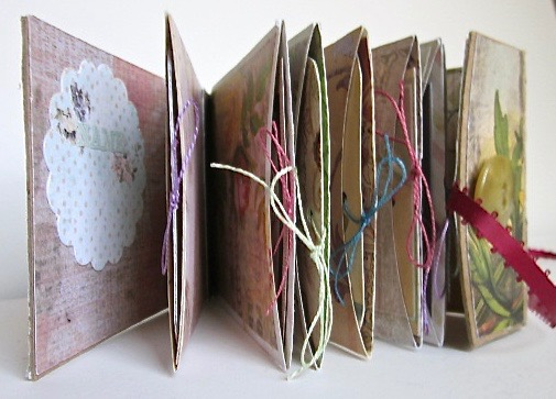 Floral-themed book of pockets.